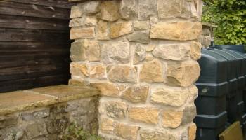 Stone gate wall